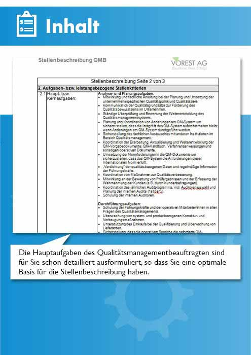 Stellenbeschreibung Qualitatsmanagementbeauftragter Qualitatsbeauftragter Qmb Vorlage Muster Checkliste